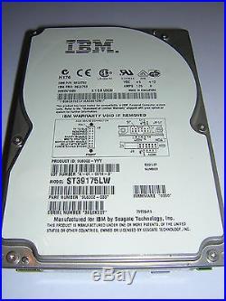 Seagate IBM St39175lw scsi 68pin 9gb 7.2k rpm 3.5 internal hard drive work good
