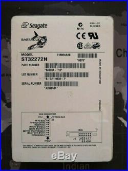 Seagate Medalist Pro ST32272N 2.2 GB 7200 RPM 3.5 SCSI 50 Pin Hard Drive
