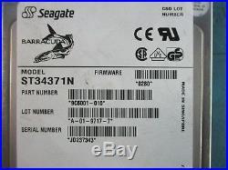 Seagate ST34371N 4.3GB SCSI 50 PIN. 72K RPM. 3.5 Hard Drive 9C6001-065