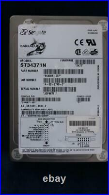 Seagate ST34371N/Compact 247267-001 4.3 GB FAST-SCSI-2 50 pin hard drive tested