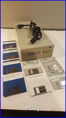 Vintage Atari Hard Drive SH204 Boot Disks Powers up Seagate ST-225 SH 204 AS-IS